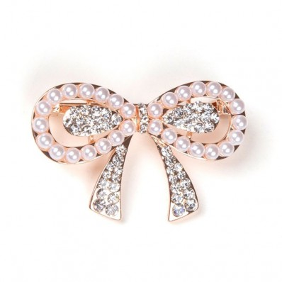 PINK KNOT WITH PEARLS & ZIRCONS 25,00 €