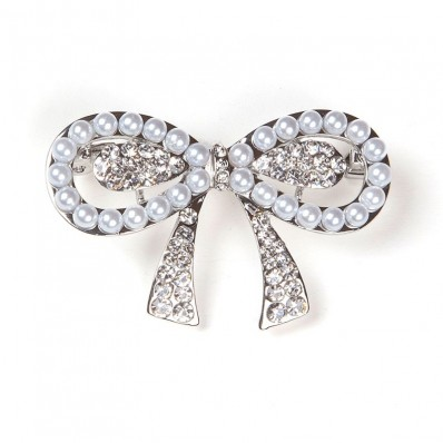 SILVER KNOT WITH PEARLS & ZIRCONS 25,00 €