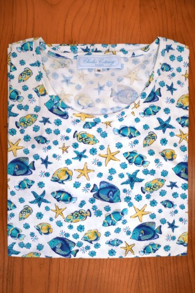 TEE SHIRT COTTON JERSEY, FISHES 75,00 €