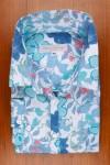 DRESS SHIRT, COTTON SATIN, BLUE FLOWER PRINT 225,00 €