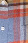 WARM AND SOFT WINTER COTTON , BLUE-YELLO-ORANGE SQUARES 125,00 €