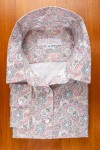 THIN COTTON FLANELL , PASTEL PAISLEY DESIGN
