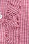 RUFFLE COLLAR, SMALL DARK RED /WHITE SQUARE 135,00 €