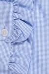 RUFFLE COLLAR, SMALL BLUE /WHITE SQUARE 135,00 €