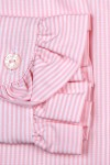 RUFFLED COLLAR AND CUFFS, PINK AND WHITE STRIPES 135,00 €