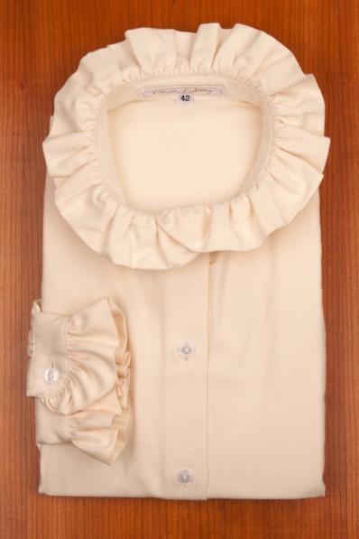 RUFFLE COLLAR, WHITE FLANELL 135,00 €