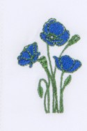 BLUE POPPIES EMBROIDERED 135,00 €