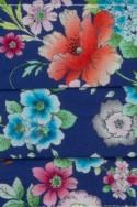 WOMAN FACE MASK BLUE SATIN MULTICOLORS FLOWERS 10,00 €