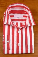 Wide Red and White stripes