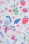 SUMMER PRINT, STRAWBERRIES, FLOWERS AND BIRDS. 135,00 €