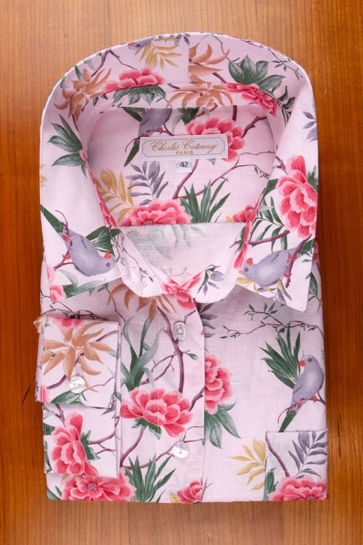 LINEN AND COTTON, FLOWERS AND PARAKETTS ON PINK 135,00 €