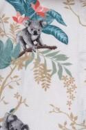 THIN COTTON FLANELL, KOALAS ON WHITE