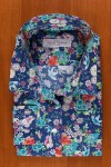PRINTED FLORAL COTTON SATIN ON BLUE JEAN 125,00 €